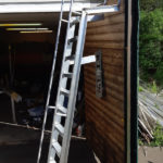 Badetrapp med ekstra støtte til brygge pga lengde